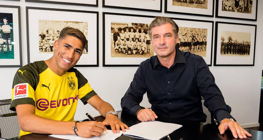 Achraf Hakimi cedido al Dortmund