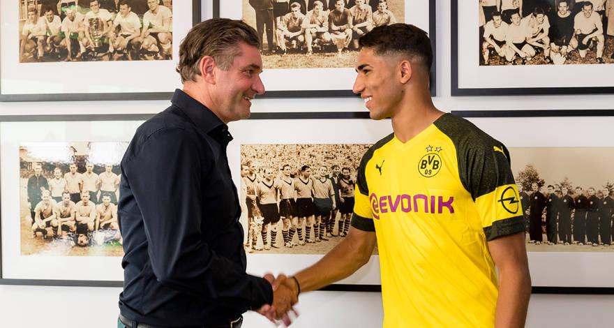 Hakimi llega al Dortmund cedido