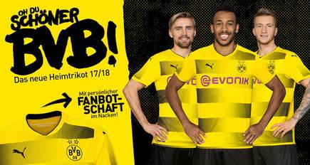 BVB und PUMA präsentieren das Heimtrikot für die Saison 2017/18 ...