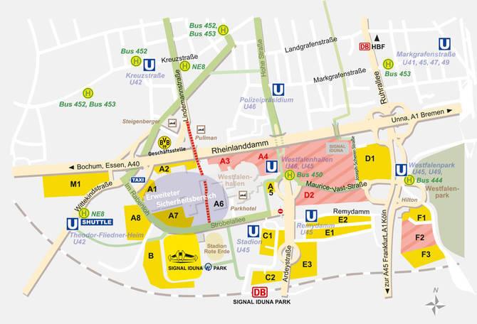 wo kann man am besten parken signal iduna park