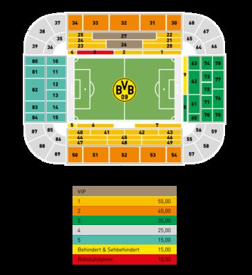 Stadionplan Dortmund