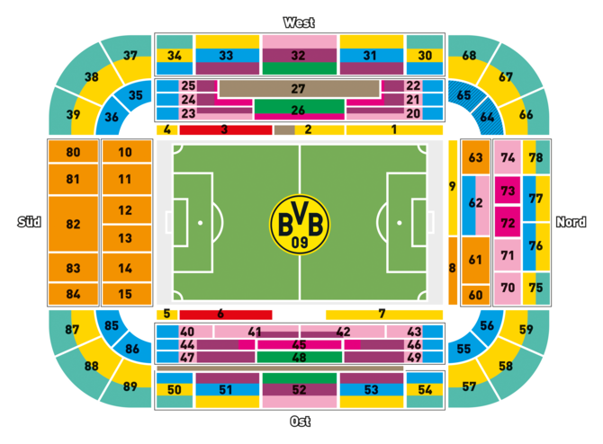 Bvb Tickets Sitzplan Offizielle Bvb Webseite Bvbde