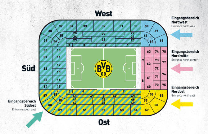 Bvb stadionplan