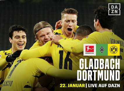 BVB gegen Mönchengladbach live auf DAZN