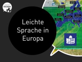 """Projekt """"Leicht Kicken"""": """"Leichte Sprache"""" in Europa"""