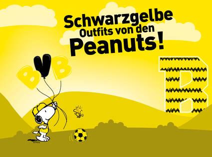 Schwarzgelbe Outfits von den Peanuts