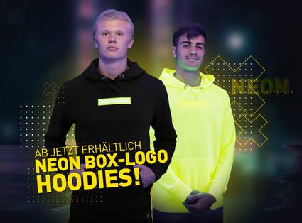 Ab sofort erhältlich: Neon Box-Logo Hoodies