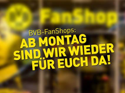 Einkaufen mit Termin in den BVB-Fanshops möglich